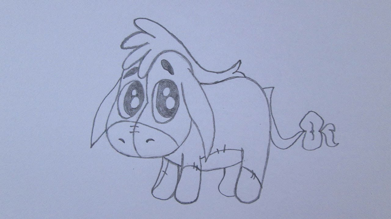 1280x720 How To Draw Eeyore From Winnie The Pooh