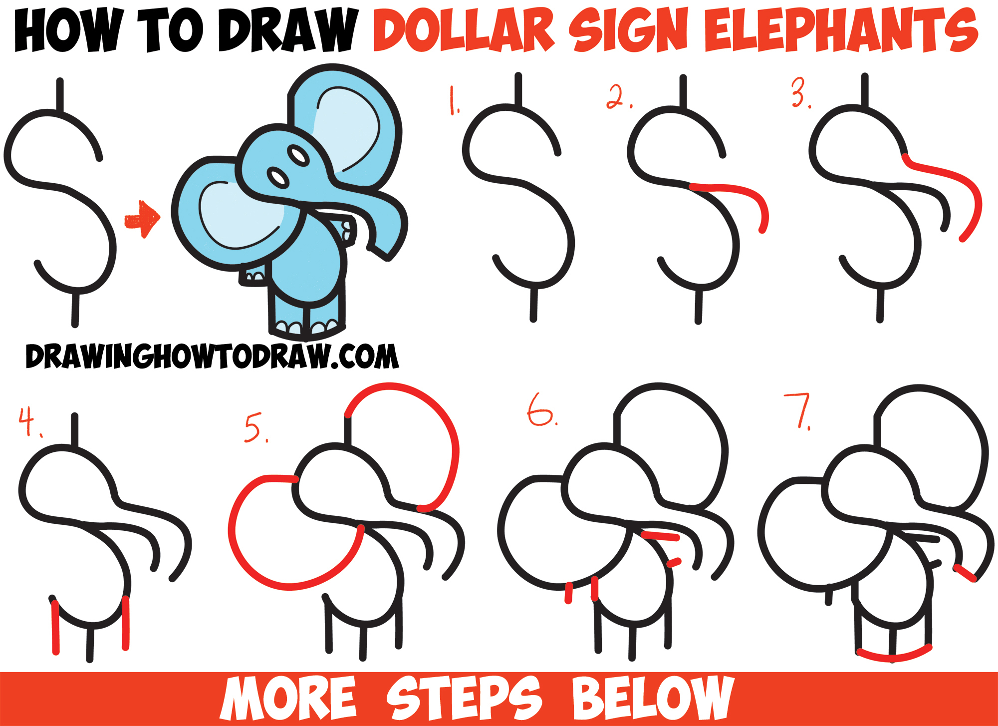 2000x1454 Elephant Drawings Step By Step How To Draw A Cute Cartoon Baby