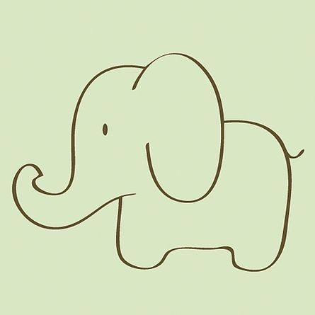 445x445 Elephant Sketch Canvas Reproduction Elephant Sketch, Sketches