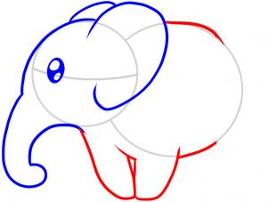 302x227 How To Draw How To Draw An Elephant For Kids