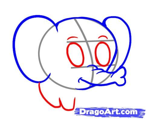 483x394 Step 4. How To Draw A Simple Elephant Step By Step