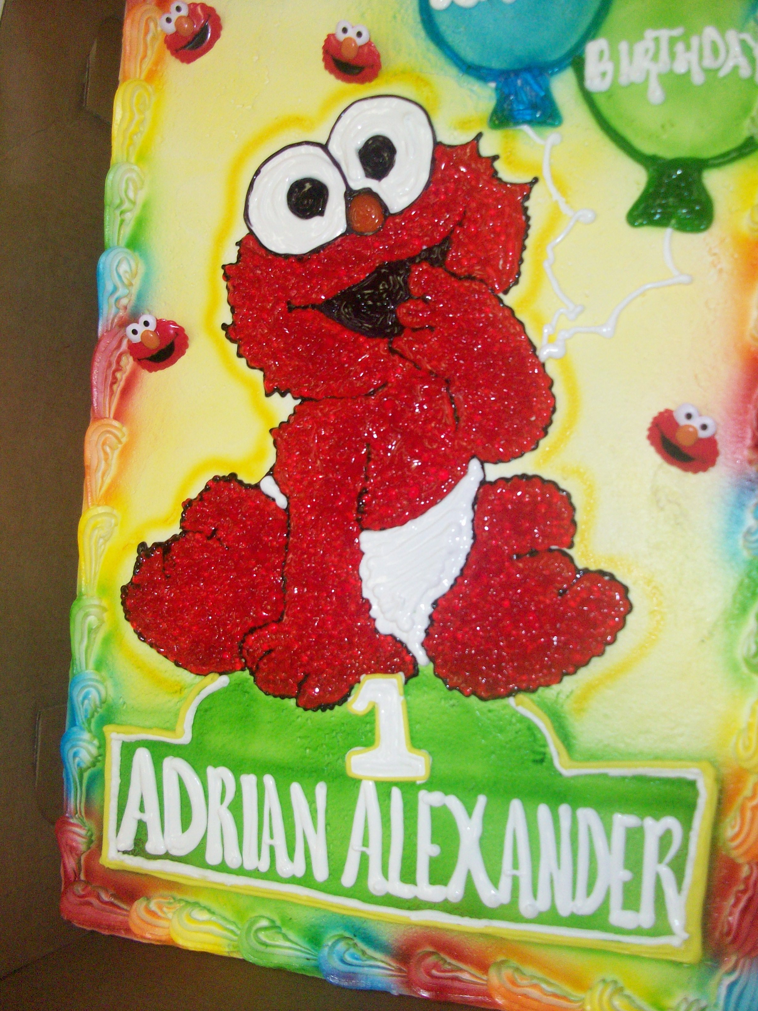 2460x3280 Calumet Bakery Baby Elmo Drawing With Airbrushed Balloons. 1st