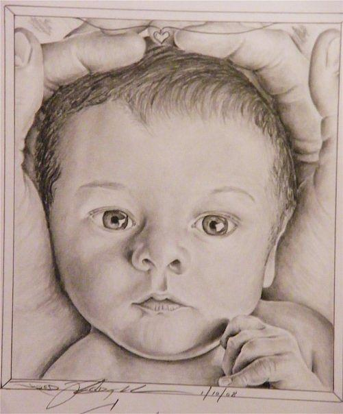 501x604 babyface drawing by jared kendall