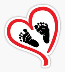 210x230 Baby Feet Drawing Stickers Redbubble