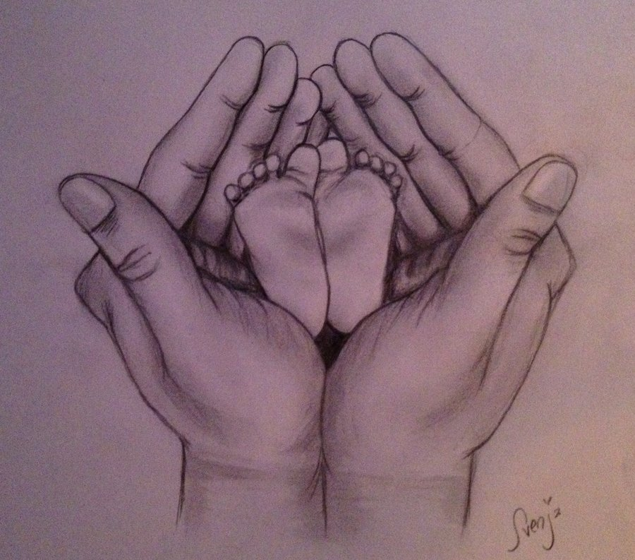 900x793 Hands And Baby Feet Sketch By Svenja By Lady1985