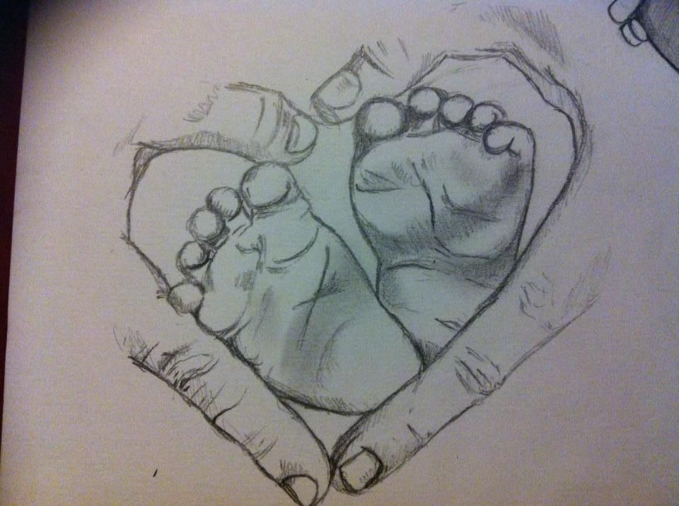 960x716 How To Draw Babies Feet Baby Feet By Brittanyhumble