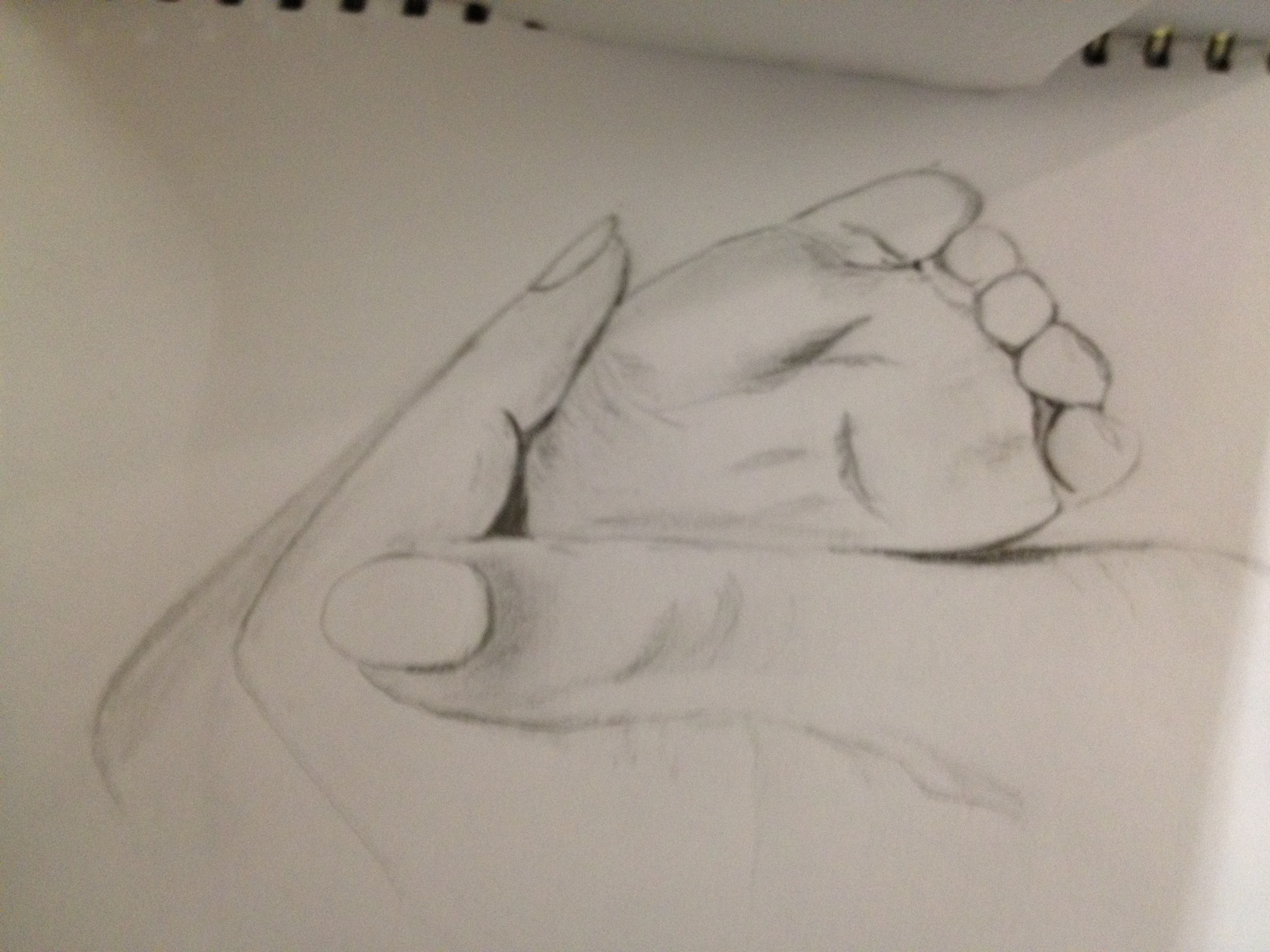 3264x2448 Baby Foot In Hand Pencil Drawings Baby Foot