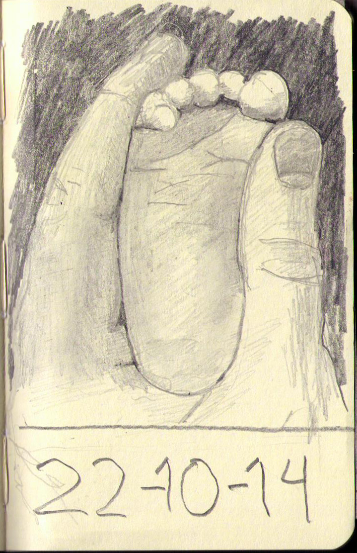 719x1112 Baby Foot In Hand. (97) One Drawing Daily