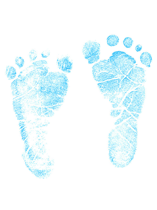 600x800 Blue Baby Footprints. Adorable Baby Feet Perfect For New Baby Boy