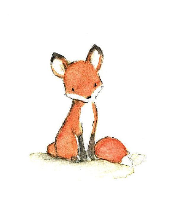 570x713 Children's Art Foxy Archival Print By Trafalgarssquare On Etsy