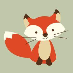 236x236 Free Digital Woodland Fox Scrapbooking Paper