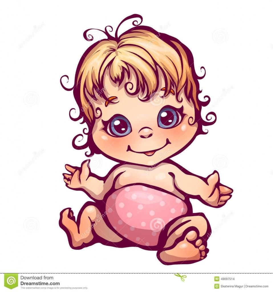 957x1024 Baby Girl Drawing Image