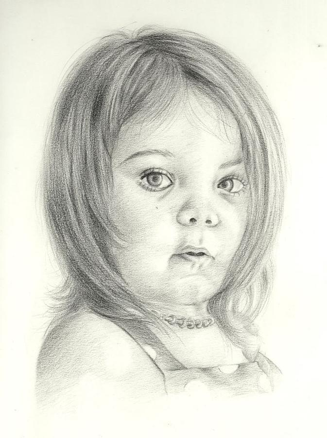 673x900 A Baby Girl Drawing By Bilal Raza