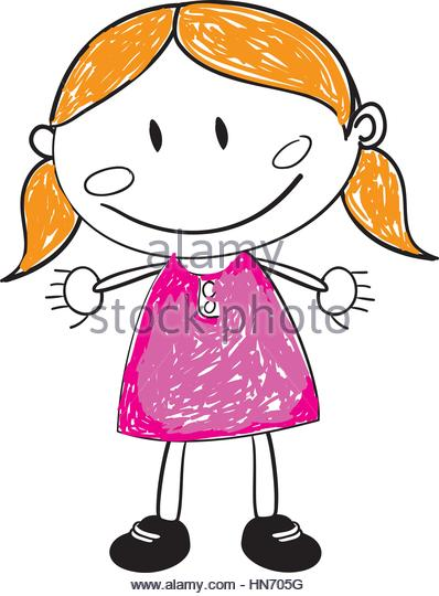398x540 Cute Funny Baby Girl Curly Stock Vector Images