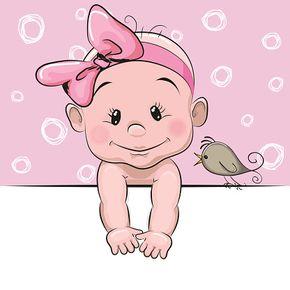 290x290 Cute Cartoon Baby Girl