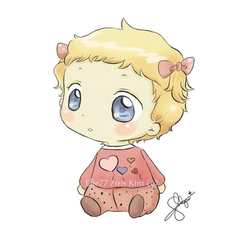 765x812 Gallery Cute Baby Girl Drawings,