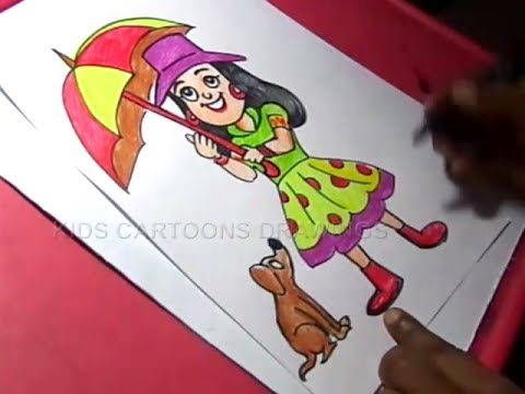 480x360 How To Draw Cute Baby Girl Drawing Step By Step For Kids