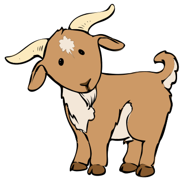376x372 Cartoon Baby Goat Description Goat Cartoon 04.svg More Clip