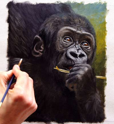 400x436 How To Paint A Gorilla Baby