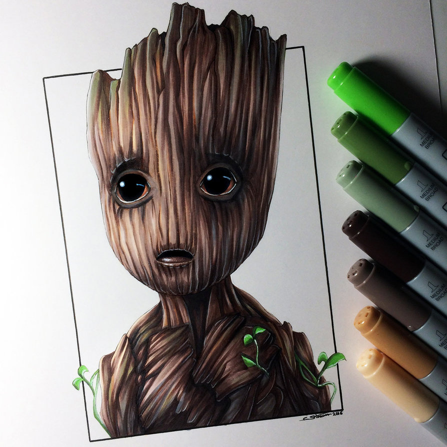894x894 Baby Groot Drawing By Lethalchris