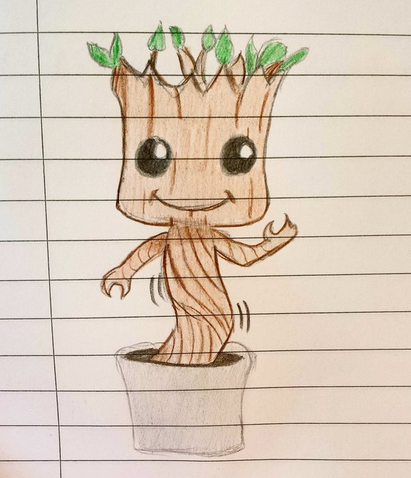 600x697 Dancing Baby Groot By Whitelillydragonfly