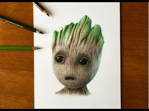 480x360 Drawing Baby Groot Guardians Of The Galaxy Vol.2 (2017)