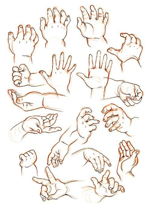 500x708 How To Draw Childrens Hands