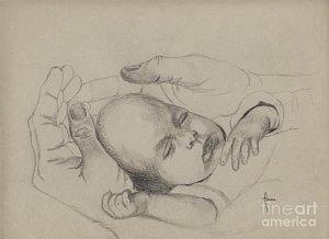 300x218 Baby Hands Drawings Fine Art America