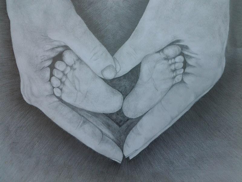 800x600 Heart Hands With Baby Feet Art By Kimberly Tarryn Johnson