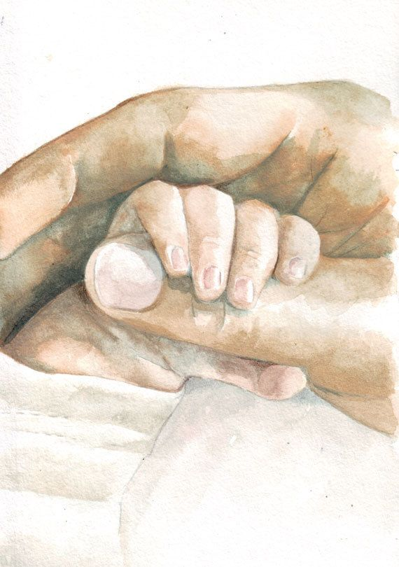 570x810 Images Of Watercolor Paintings For Baby Original Watercolor