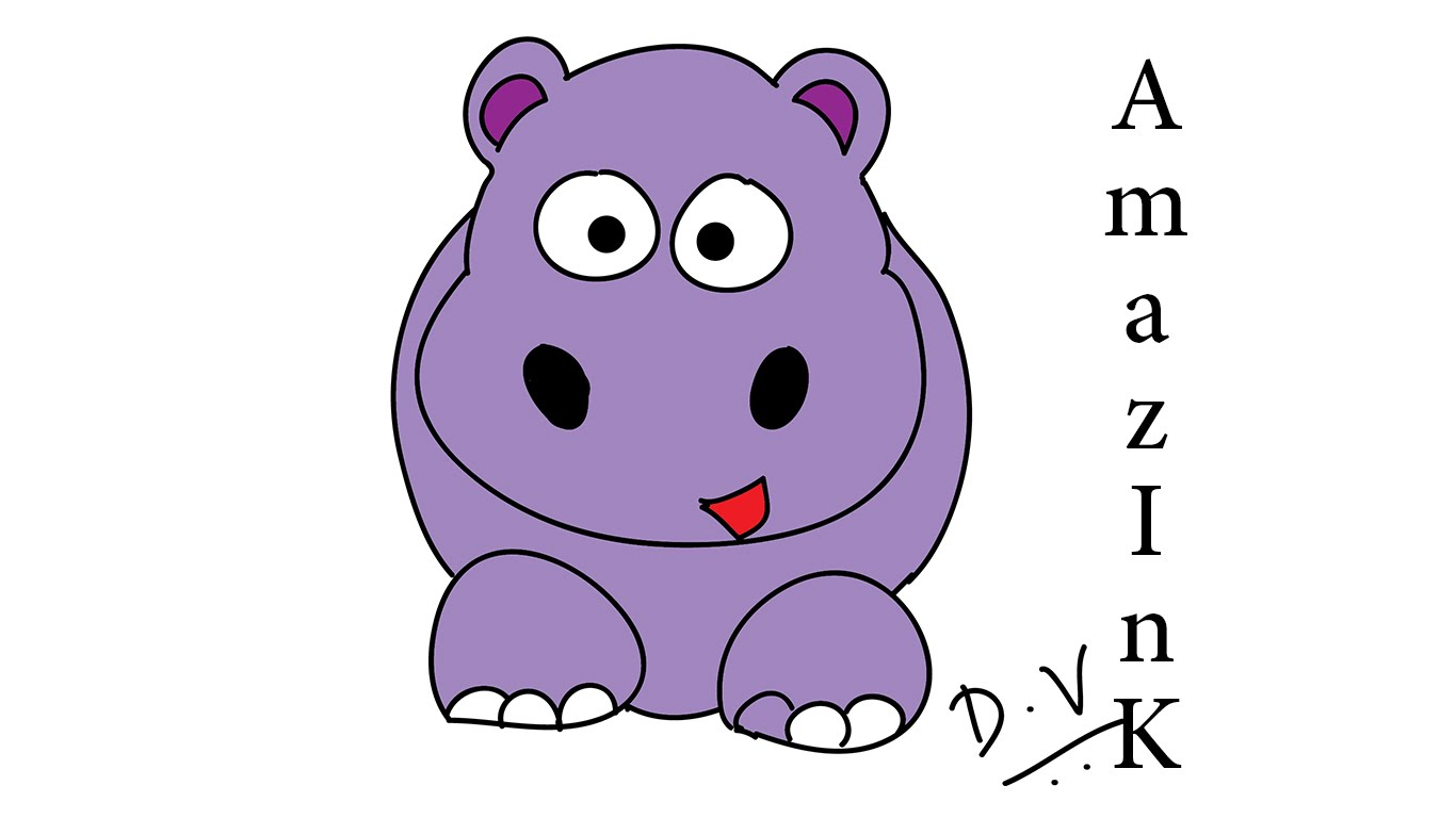 1366x768 Learn How To Draw A Baby Hippo