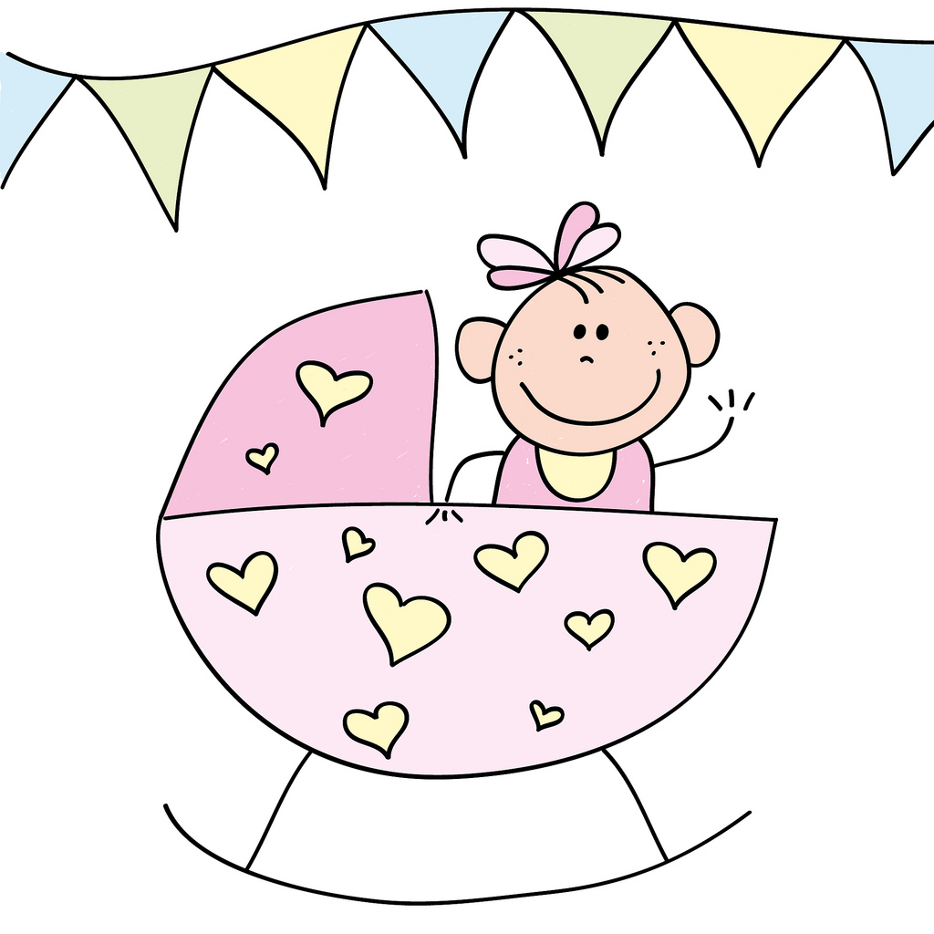 1024x1024 Baby Girl In Crib Drawing Of A Baby Girl Graat