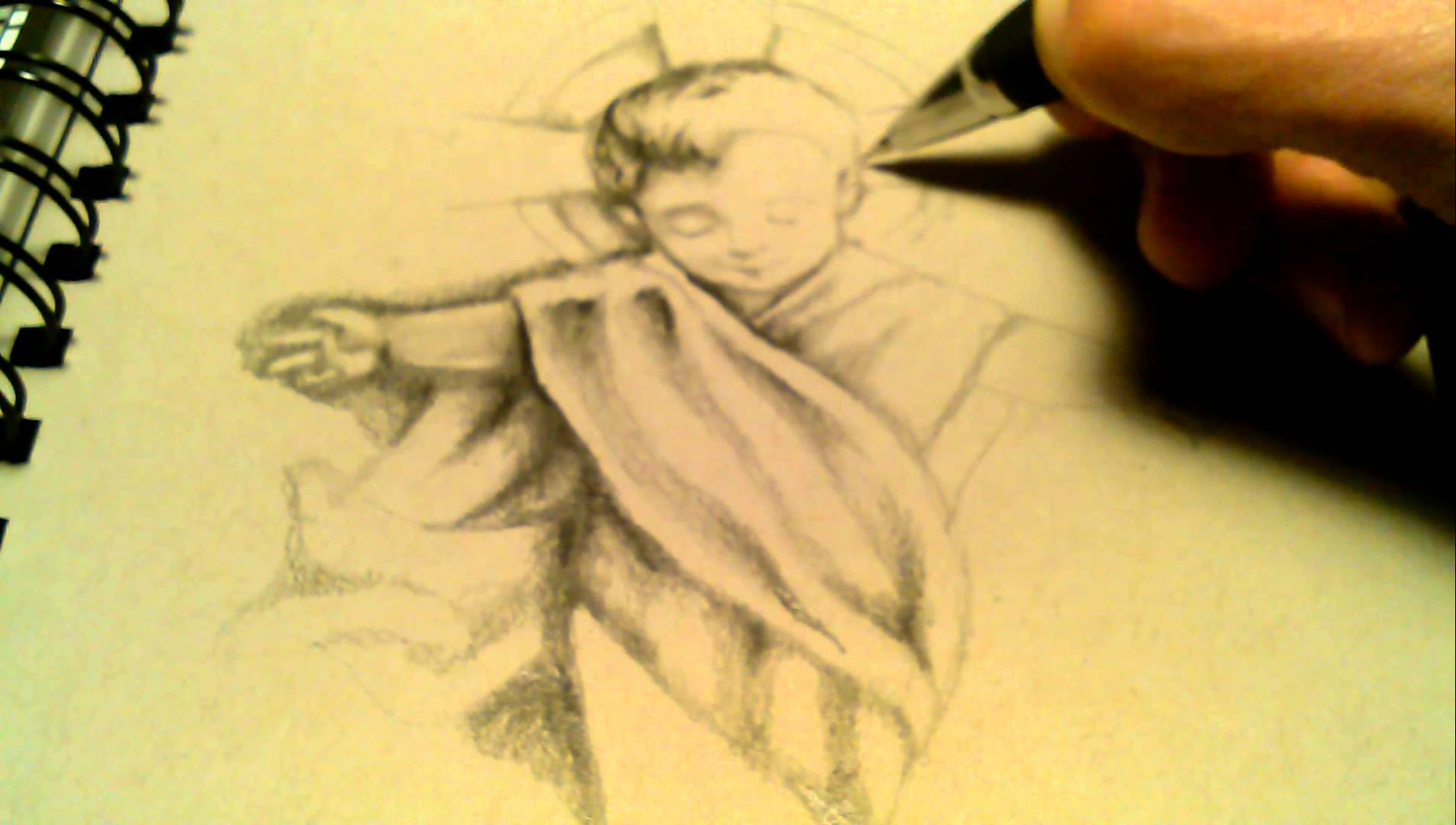 1905x1080 Drawing Baby Jesus