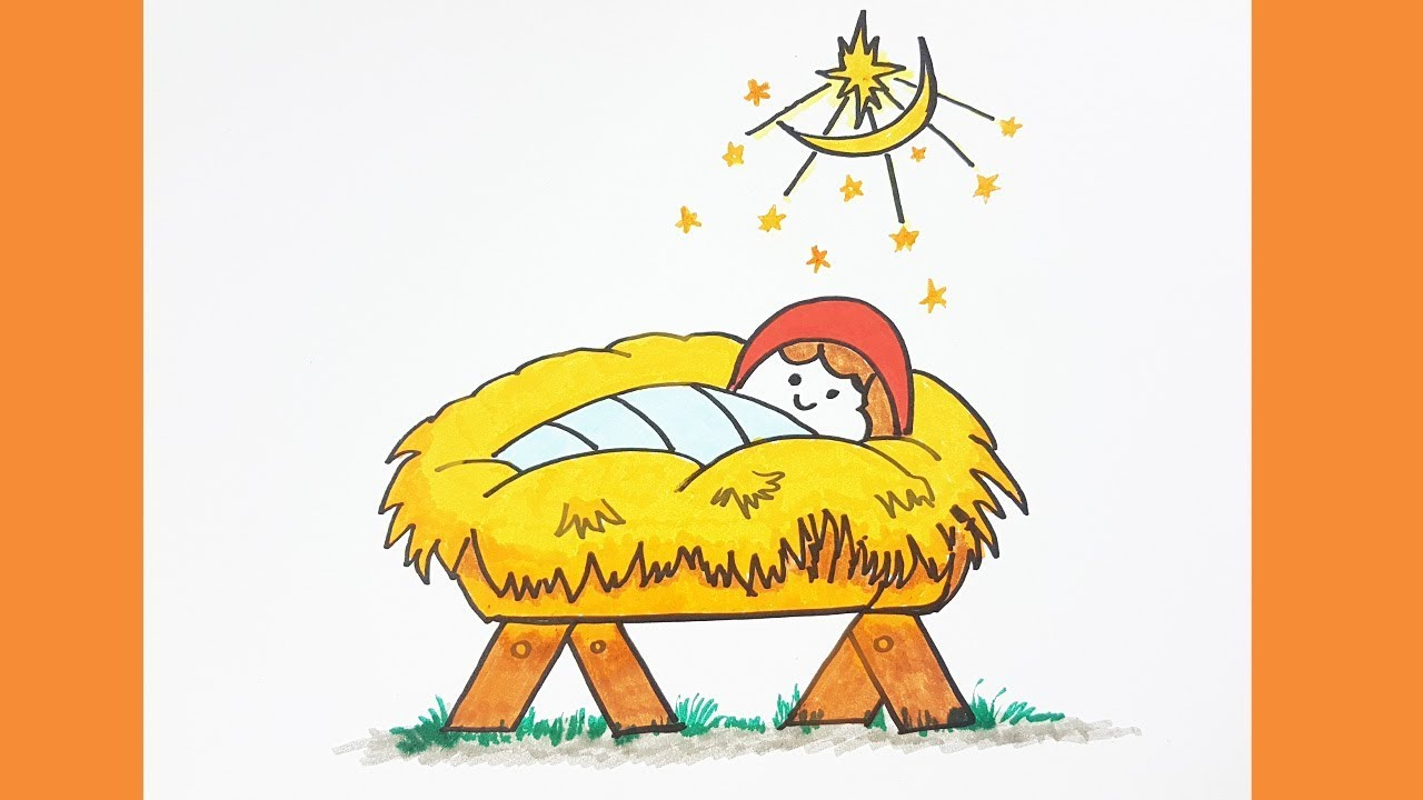 1280x720 How To Draw Baby Jesus Easy Amp Color For Kids