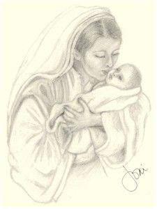 225x300 Mary And Baby Jesus (Joni Atkins)