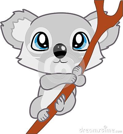400x435 Baby Koala Clipart