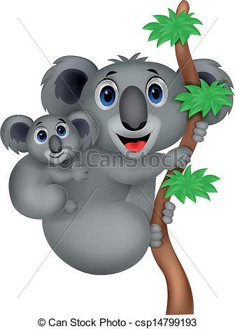336x470 Vector Illustration Of Mother And Baby Koala Cartoon Eps Vectors