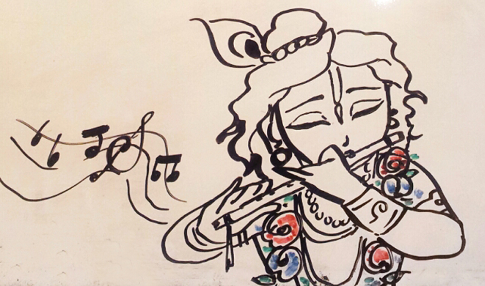 1000x591 Baby Krishna Sketch On Quotesfab Com