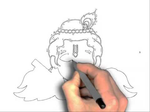 480x360 How To Draw Krishna For Kids