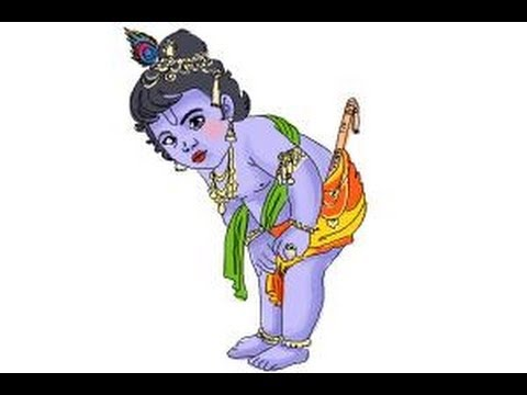 480x360 How To Draw Baby Krishna Iskcon