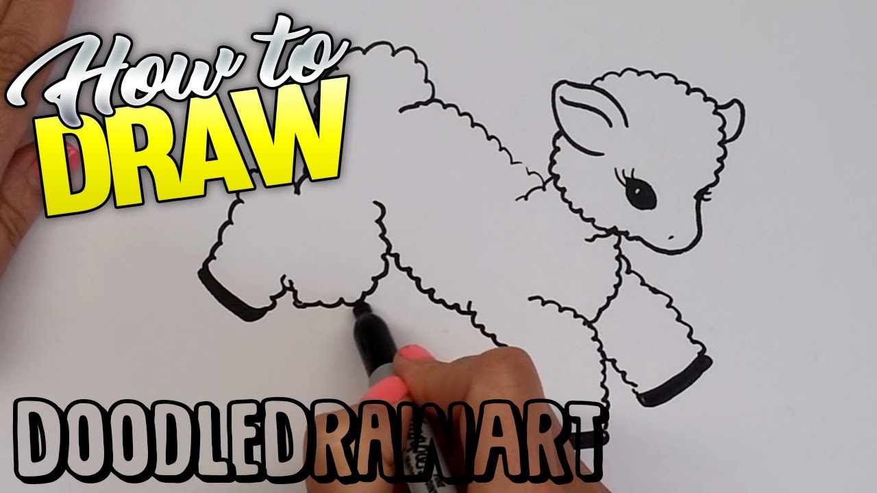 1280x720 How To Draw A Cartoon Baby Lamb Step By Step How To Draw Baby