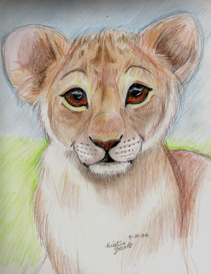 421x548 Baby Lion By Natsumewolf