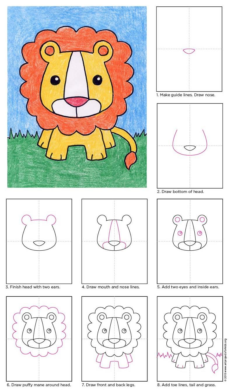 788x1338 Draw A Baby Lion