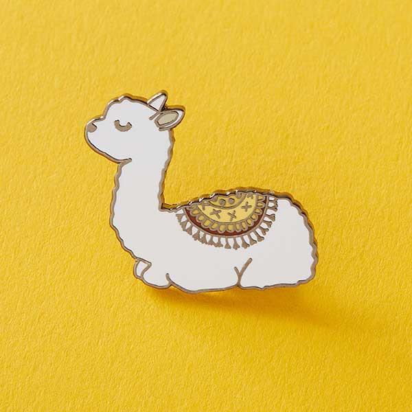 600x600 Baby Llama Enamel Pin Punky Pins Punkypins