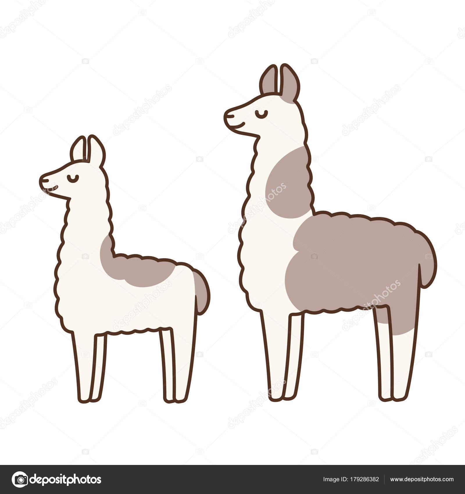 1600x1700 Cute Cartoon Llamas Stock Vector Sudowoodo