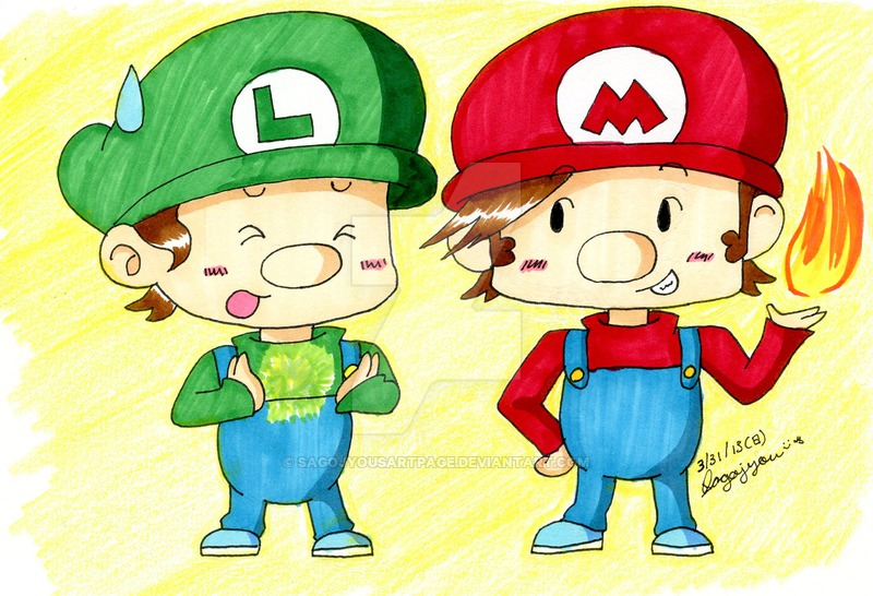 800x546 Baby Mario And Baby Luigi By Akirasartworld
