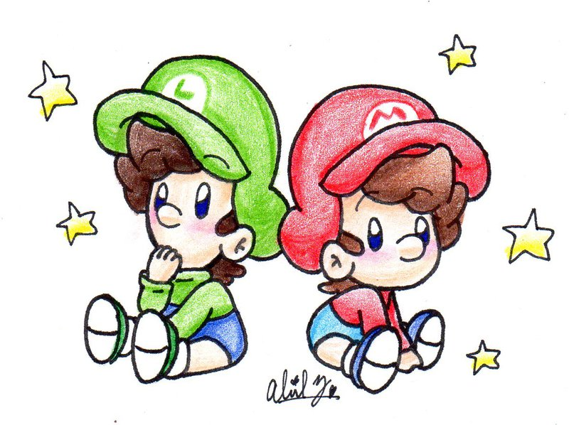 800x598 Baby Mario And Baby Luigi By Babyabbiestar