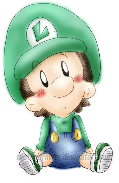 400x615 Baby Luigi 3 By Nintendrawer