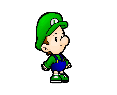400x328 Baby Luigi By Nintendrawer