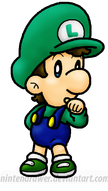 354x627 Replaced Pic Baby Luigi By Nintendrawer
